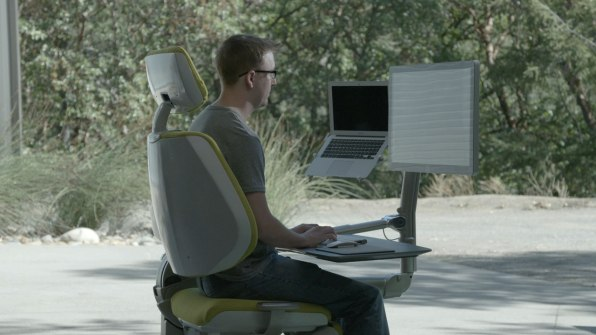 ... Co Founder Had Injured His Back, And He Hacked Together A Reclining  Workstation Because It Was The Only Way To Work Comfortably. When He  Recovered ...