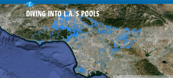 Crazy Swimming Pools a crazy map of 250,000 swimming pools reveals los angeles county's