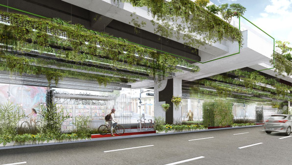 The forgotten space under this sao paulo highway will become a hanging garden and park the - Elevate the sustainable house ...