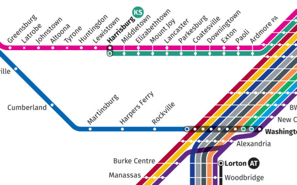 This Redesigned Map Of US Train Routes Might Make You Fast Company - Train map us