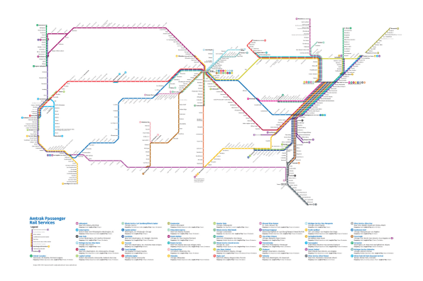 This Redesigned Map Of US Train Routes Might Make You Fast Company - Make map us