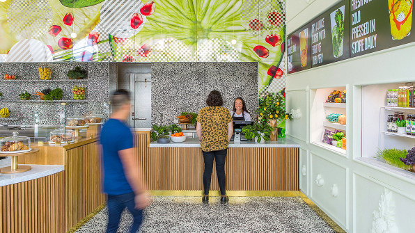 Jamba Juice Flexes Its Design Muscle Stepping Into Juices New Concept Store In Pasadena California Will Make People Who Are Familiar With The Brand