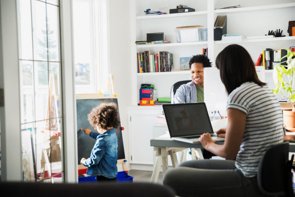 Working In Home Office the home office is being replacedopen-plan, flexible home work