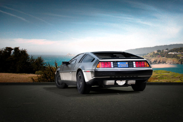 photos of the new electric delorean back to the future fast company. Black Bedroom Furniture Sets. Home Design Ideas