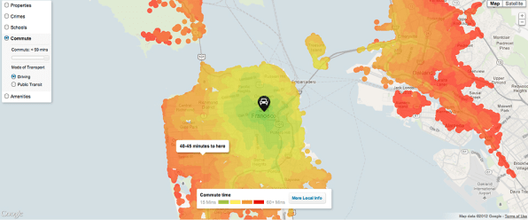 Trulia\'s New Maps Show Your Commute Time From Your New House