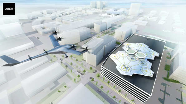 ubers vision for air taxis and landing pads in dallas image courtesy of uber