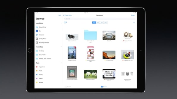 iOS 11's new Files app.