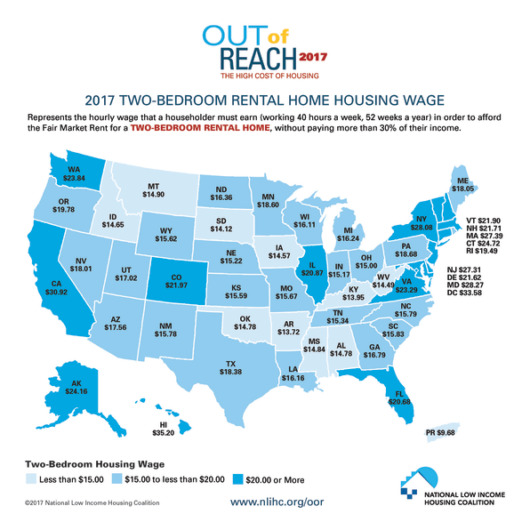 This Map Shows How Much You Need To Earn To Rent An