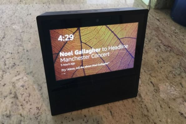 This item about a concert at an arena that's been closed since a terrorist attack in May is about as close as the Echo Show gets to hard news.