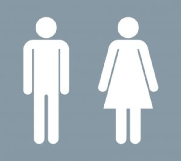 Male and Female Restroom symbols