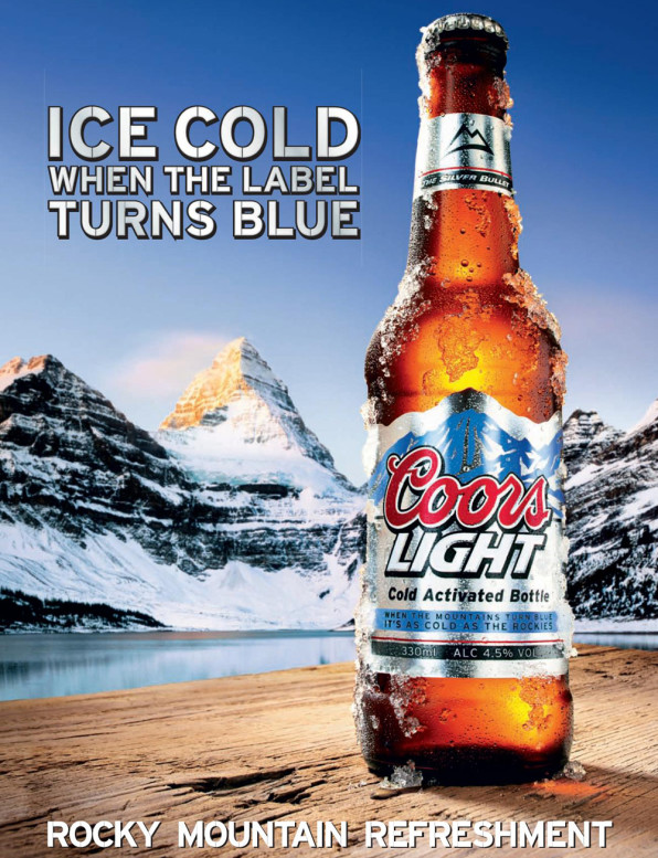 how cold is coors light s super cold beer fast company. Black Bedroom Furniture Sets. Home Design Ideas