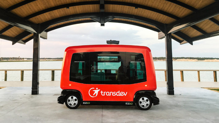 This Solar-Powered Town Is Home To America's First Self-Driving Shuttle Network