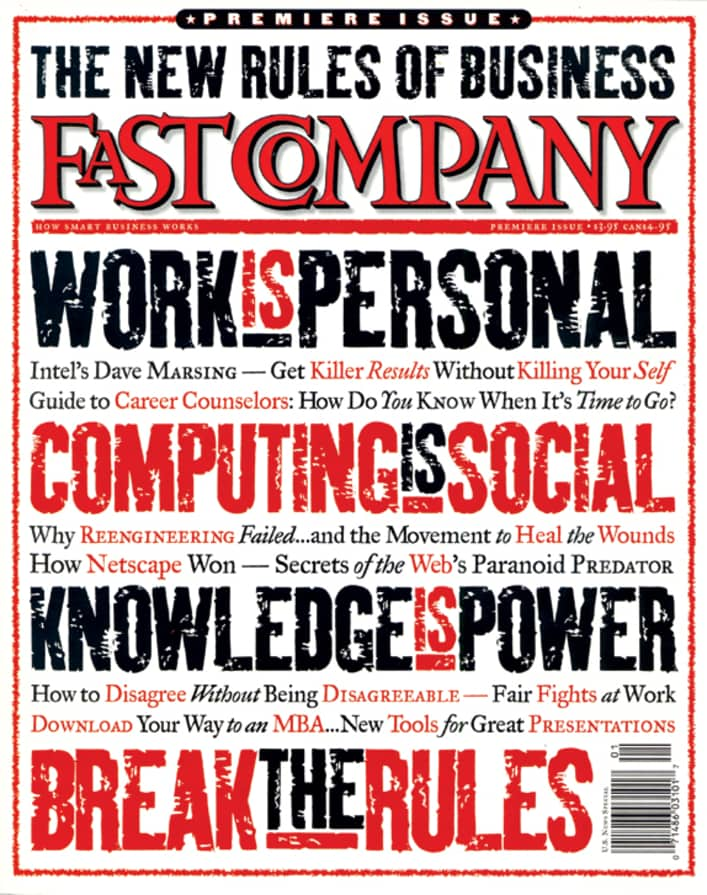 Fast Company Magazine Cover - October 1995, Issue 1