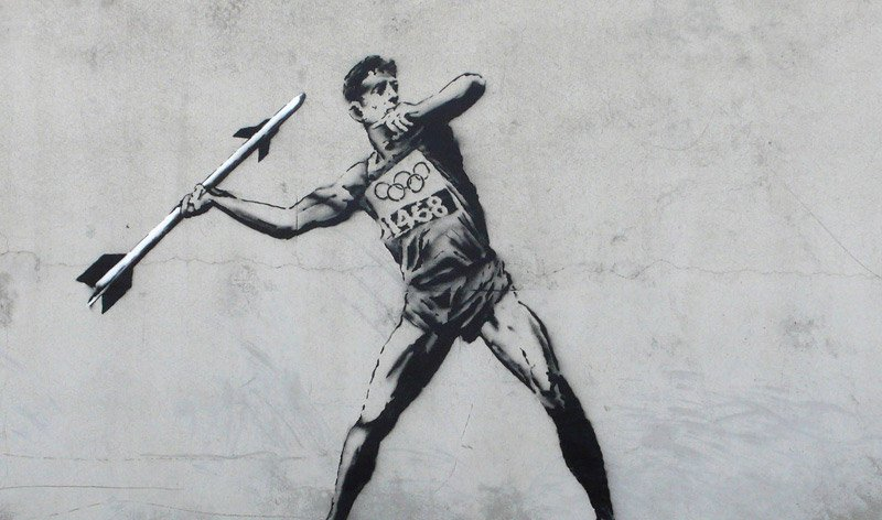 As Authorities Crack Down, Banksy Enters The Olympic Graffiti Games