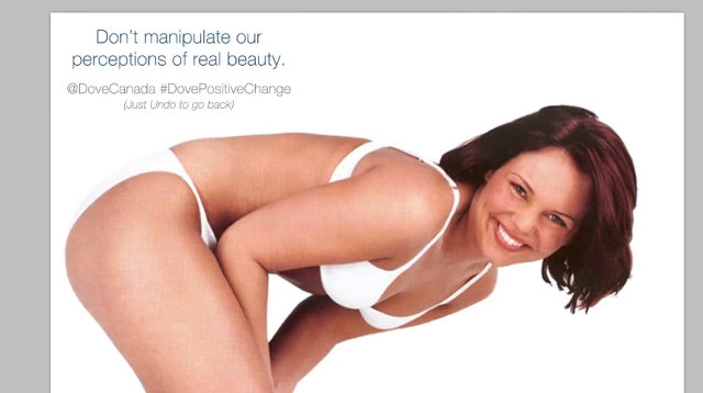 Dove Canada Uses Photoshop Trojan Horse to Shame Potential Body-Shamers