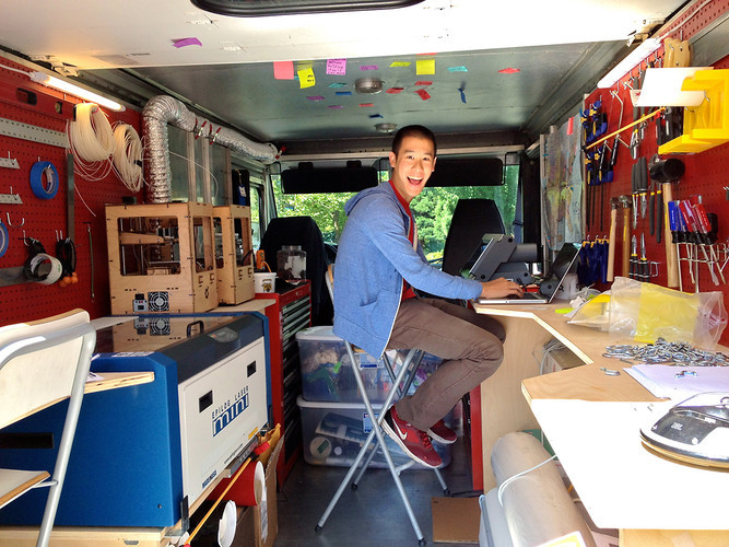 "SparkTruck: A ""Bookmobile"" That Brings Rapid Prototyping to School Kids"