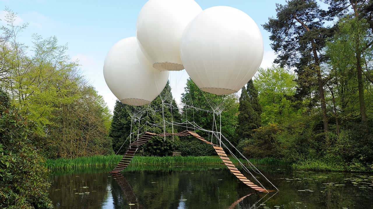 A Bridge Supported Only By Helium Balloons