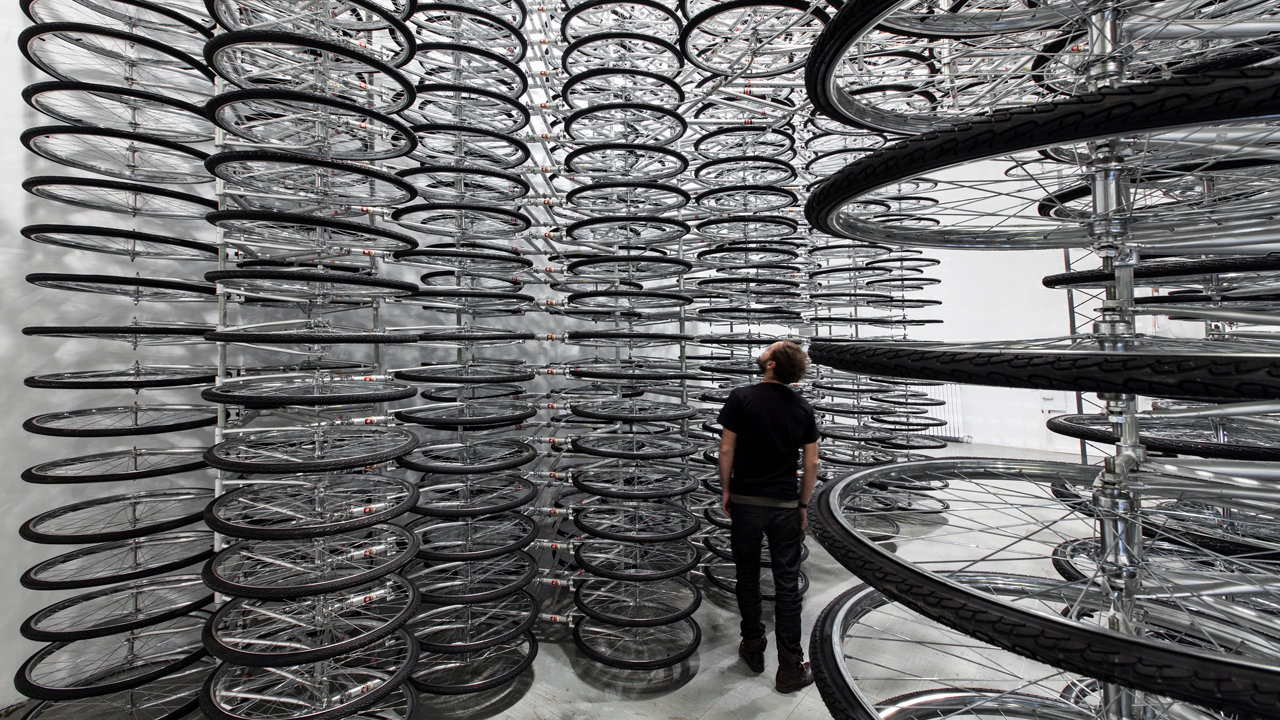 760 Bikes Make Up Ai Weiwei's Latest Brilliantly Simple Installation