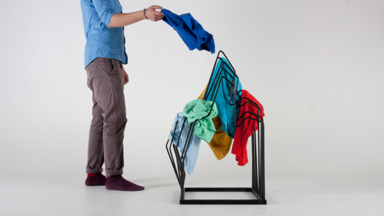 This Clothes Rack Turns Your Mess Into Art