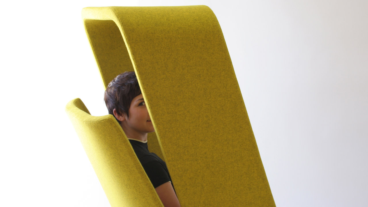 A Chair That Shields You From Snooping Coworkers