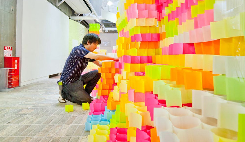 job fails - post-it sculpture