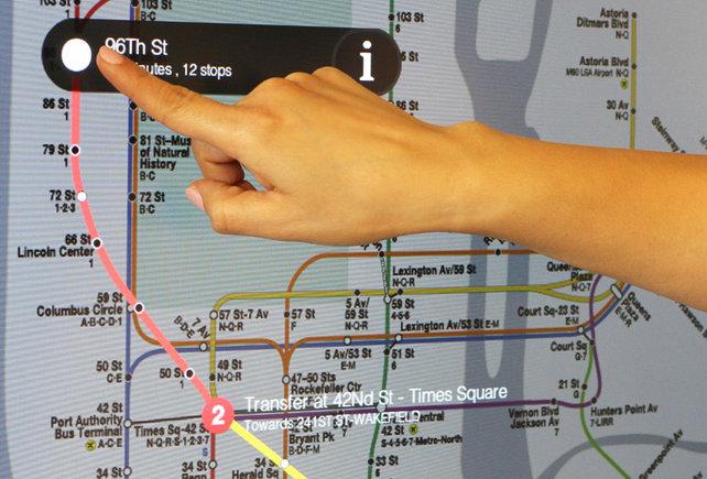 شاشات ضخمة تعمل باللمس فى مترو أنفاق نيويورك 1672160-inline-subwa