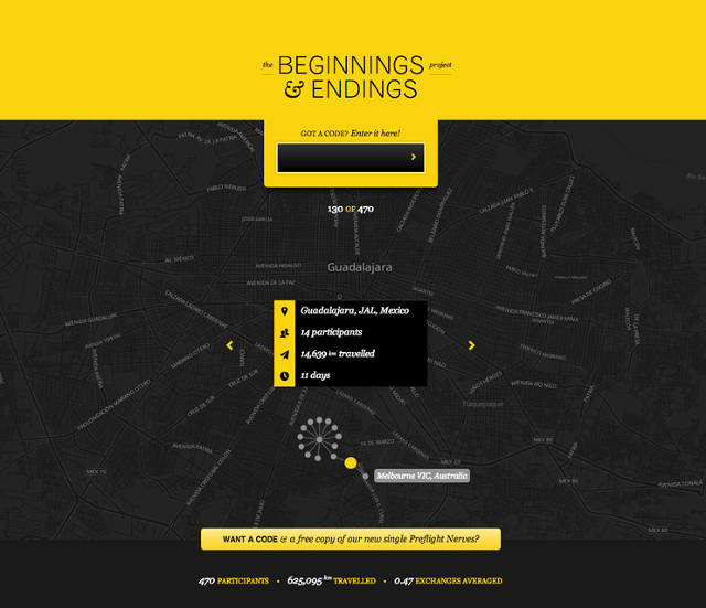 Infographic: A Band Visualizes Fans Sharing Its Music