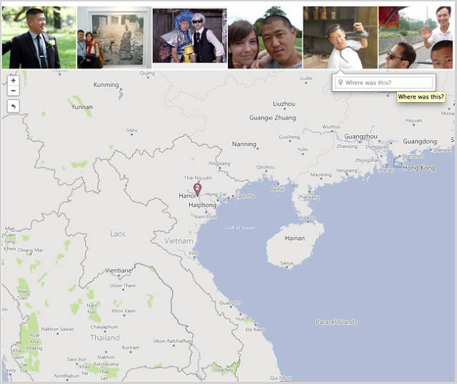 Felton's favorite features: A map that shows pictures wherever they were taken