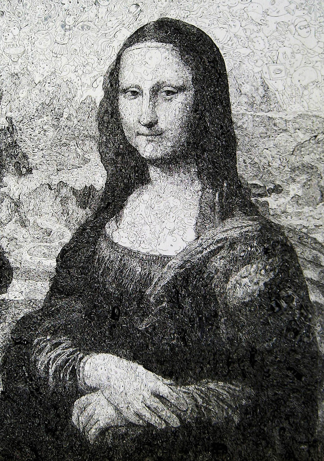 Mona Lisa, From Thousands of tiny Sketches