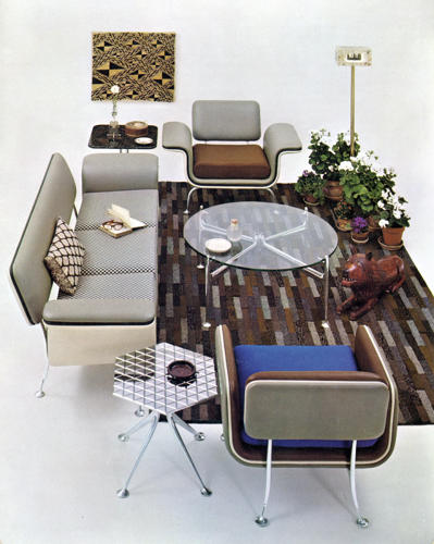 <p>The influence of the Eames's was felt even during their own time -- their circle of friends and acquaintances assured that. Here, furniture by one of their contemporaries, Alexander Girard, also for Herman Miller.</p>