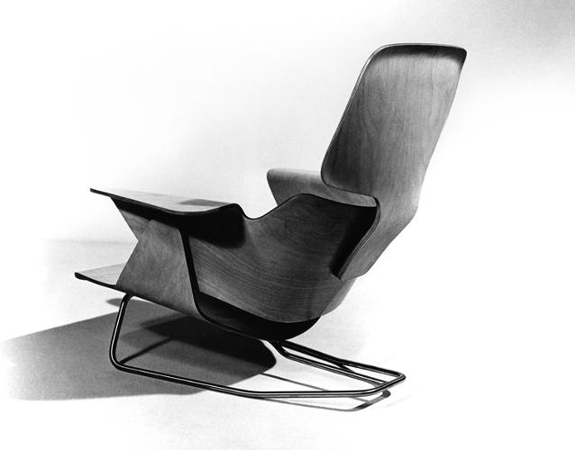 <p>One of the most remarkable things you'll find in these books are the countless prototypes that never made it to production, such as this chair which these days would likely cost you hundreds of thousands of dollars -- assuming you could get a hold of one.</p>