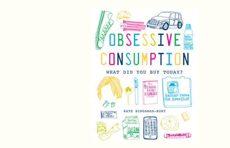 <p>Obsessive Consumption: What Did You Buy Today? (Princeton Architectural Press, $19.95) is a collection of daily purchase drawings Portland-based designer Kate Bingaman-Burt has created since 2006. In her hand, sketches of mundane objects are transformed into engaging statements on consumerism, spending, budgeting, celebration, indulgence, and of course, guilt.</p>