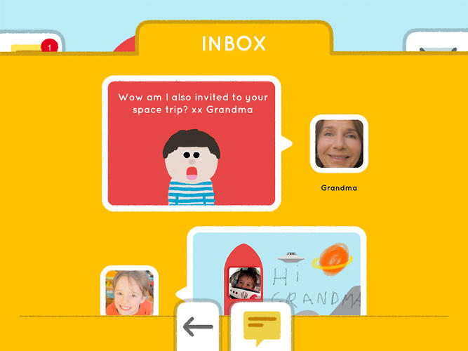 <p>Kids can only send and receive emails from a pre-defined list of contacts, created by their parents.</p>