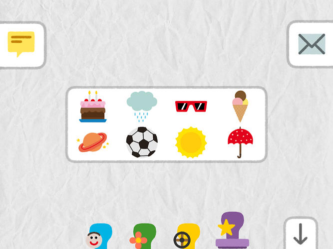 <p>The app comes with a plethora of fun details, like stickers, which let younger kids enhance their creations.</p>