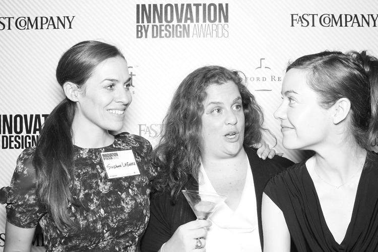<p>Suzanne LaBarre, formerly one of the founding staffers at Co.Design; Randi Greenberg, our project manager for the competition; and Belinda Lanks, of Co.Design.</p>