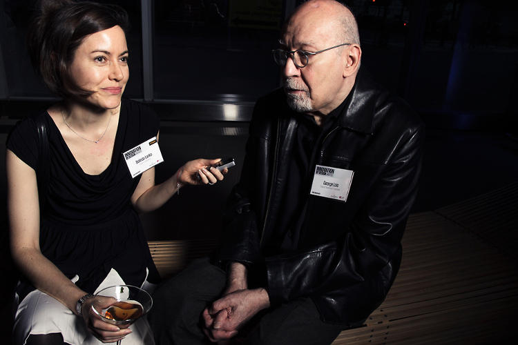 <p>Our own Belinda Lanks with the great George Lois.</p>