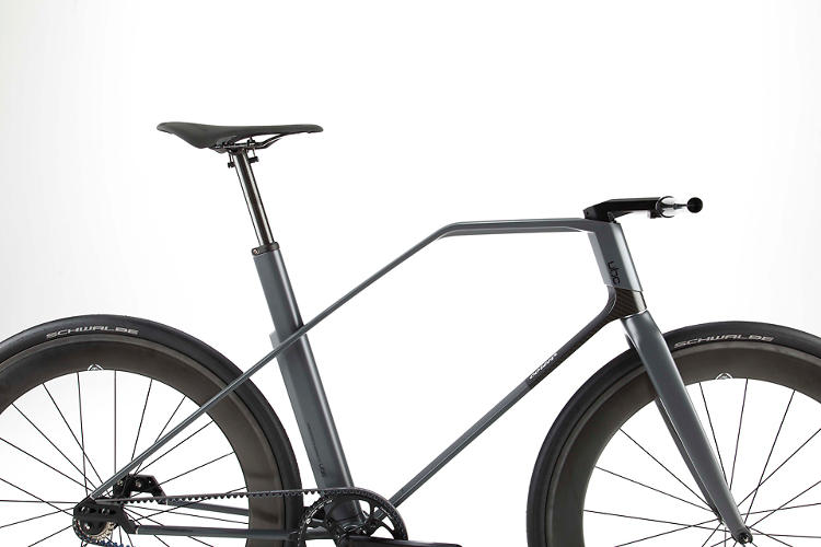 <p>The Coren, by UBC, is a fixed-gear bike made from carbon fiber.</p>