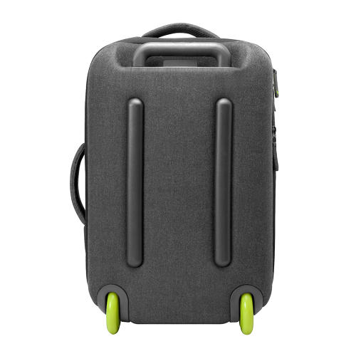 <p>The standard roller features a front zipper pocket, a slip pocket for an iPad, a padded notebook sleeve for laptops up to 17 inches, and various other organizer compartments.</p>