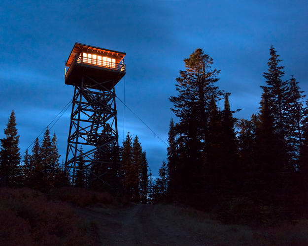 <p>A fire watch tower in backcountry Oregon.</p>