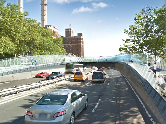 <p>WXY principal Claire Weisz describes the redesigned (and much improved) pedestrian overpass as a &quot;human interchange.&quot;</p>
