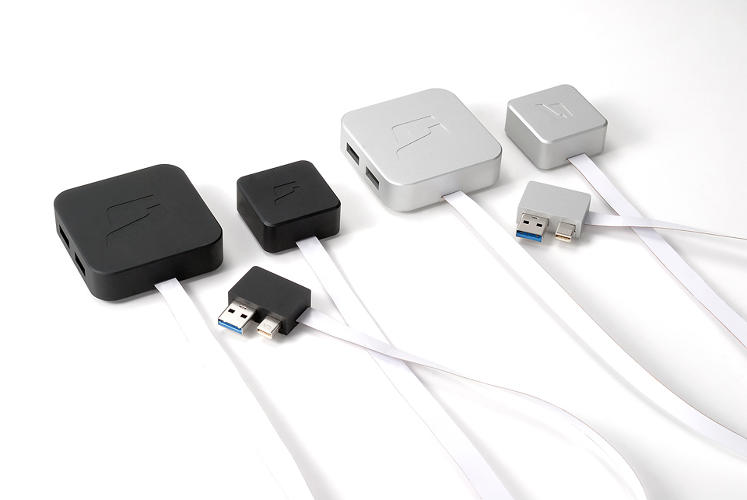 <p>It comes in &quot;mini&quot; and &quot;pro&quot; configurations, depending on the plugs that you need. And it almost goes without saying that its industrial design is built to mimic your aluminum and plastic MacBook.</p>