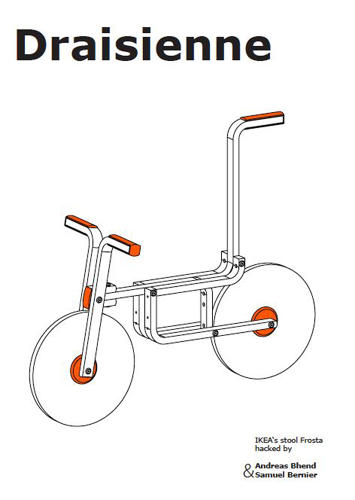 <p>Bernier explains: &quot;It turned out that the stool worked perfectly [for the bike] (and when I say perfectly, I mean WTF). I was amazed by this coincidence. It almost felt like these parts were designed for this exact purpose.&quot;</p>
