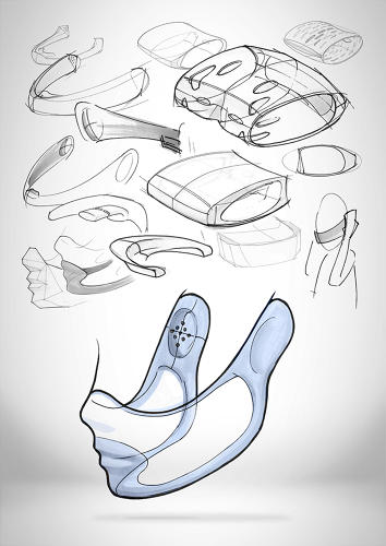 <p>Sketches suggesting further refinement of the prototypes.</p>