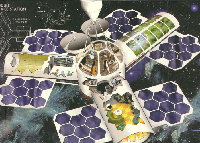 <p>Here, a space age illustration from the <em>Hello Nasty</em> packaging--the album, we learn, took the working name <em>Intergalactic</em>.</p>