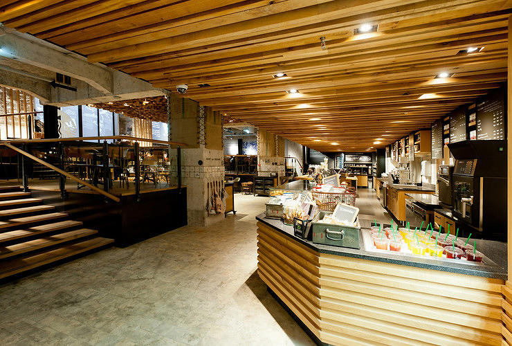 <p>Her designs are specific to the culture and neighborhood. The first concept store, In <a href=&quot;http://www.fastcodesign.com/1669192/starbucks-concept-store-is-a-lab-for-reinventing-the-brand#1&quot; target=&quot;_self&quot;>Amsterdam</a>, repurposed materials from nearby construction sites as well as discarded bicycle tires for the interior.</p>