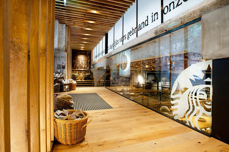 <p>Located in the vault of a historic bank, the décor materialized through the efforts of Muller and a team of local artisans. Any ideas that go over well may start appearing in other Starbucks stores across Europe.</p>