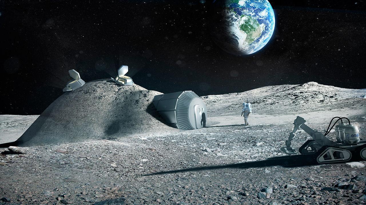 This 3-D Printed Moon Base Might Be The Future Of Space Exploration