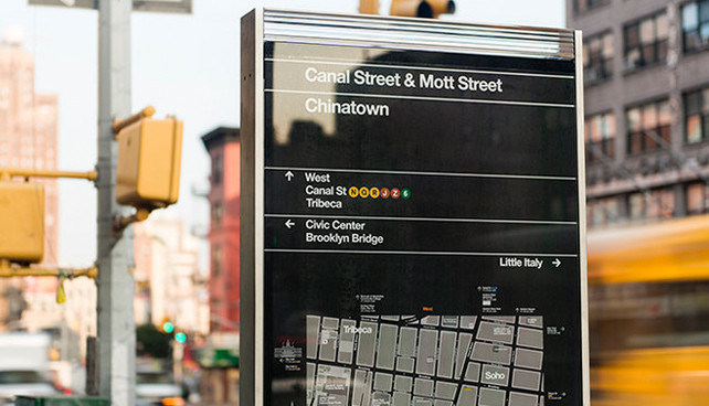 A New Wayfinding System Brings Maps To New York's Pedestrians