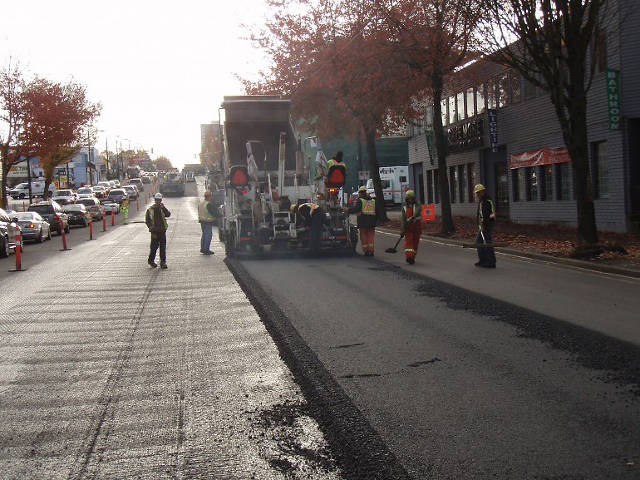 Paving Streets With Recycled Plastic