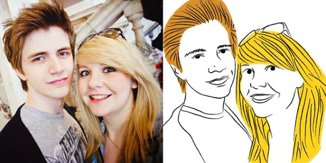 These Amazing Images Are What Happens When You Ask A Stranger To Draw Your Facebook Photo